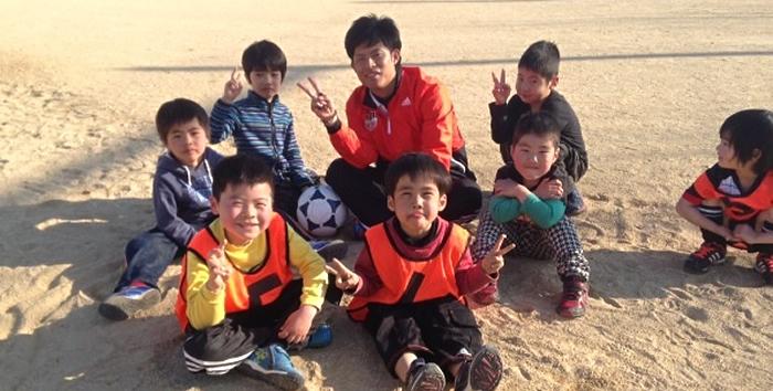 幼児のためのサッカー教室です!